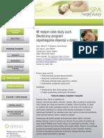 W Malym Ciele Duzy Zuch Skuteczny Program Zapobiegania Depresji u Dzieci Duzuch