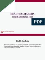 Individual Floater Health Suraksha Ppt-Agency 061108