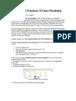 Cara Install Windows XP Dari Flashdisk