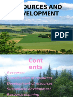 Resources and Development