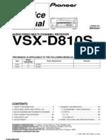 Pioneer+Vsx d810s+Parts%2c+Service+Manual