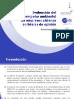 Evaluación del desempeño ambiental de empresas chilenas en líderes de opinión