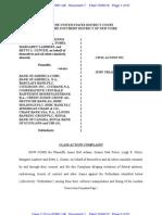 Original Complaint in Annie Bell Adams, et al. vs. Bank of America, et al, 12 Civ. 7461
