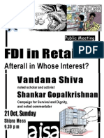 AISA's Public Meeting- FDI in RETAIL- Afterall in Whose Interest
