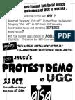 Join Jnusu's Protest Demo at Ugc on 22 October