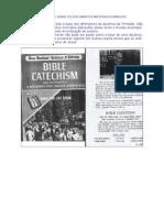 BATISMO BIBLICO Catecismo Revisado Pelo Vaticano Assume a Autoria Da Mudanca