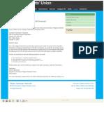 University of Regina Students' Union (URSU) Requests Audit of Canadian Federation of Students-Saskatchewan (CFS-SK) Finances - October 16, 2012