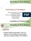 Food Policy for First Nations Workshop PPT-1