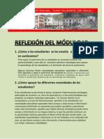 REFLEXION DEL MÓDULO VI