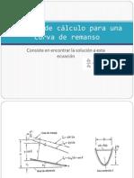 Métodos de cálculo para una curva de remanso