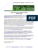 The 2012 Global Education Conference Press Release - October 2012