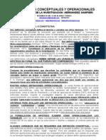 definicion conceptual y operacional