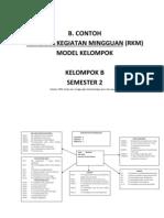 B. Contoh Rencana Kegiatan Mingguan (RKM) Kelompok B Semeste