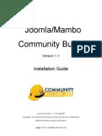 Joomlapolis CB1.1 Installation Guide