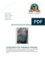 Estrategia de penetracion de mercados para liquido de frenos FRIXX en Santa Cruz de la SIerra