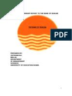 Internship Report to the Bank of Bunjab
