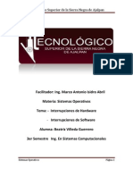 Interrupciones Hardware y Software