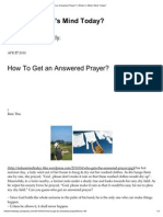How to Get an Answered Prayer_ _ What's in Mike's Mind Today