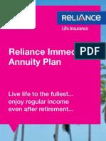 Reliance Immediate Annuity Brochure