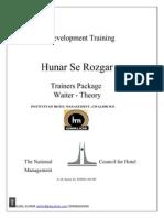 F & B Service Theory Manual