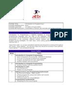 MELJUN CORTES JEDI Course Curriculum - Introduction to Programming I