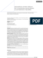 CTLA-4 Gene Polymorphisms and Their Influence on Predisposition to GD and HT
