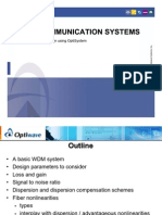 WDM Communication Systems