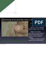 Automasaje para los músculos pectorales mayor y menor