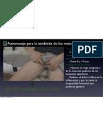 Automasaje para la tendinitis de los músculos aductores