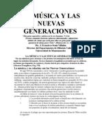 LA MÚSICA Y LAS NUEVAS GENERACIONES