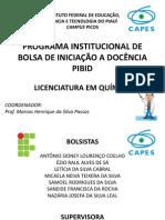 apresentação PIBID REUNIÃO 2012.2