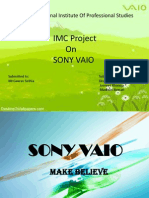 Sony Vaio Integrated marketing communication ppt