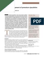 Medical Management of Premature Ejaculation
