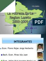 Pobreza en Loreto 2000 - 2009 - UNAP - ECONOMÍA