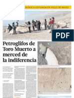 Petroglifos de Toro Muerto a Merced de La Indiferencia
