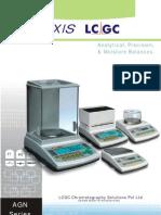 3. Axis LCGC Analytical, Precision & Moisture Balances