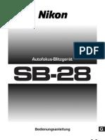 SB 28 Bedienungsanleitung