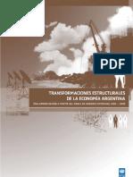 Tranformaciones estructurales de la Economia Argentina