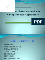 Individual, Interpersonal, And Group Process Approaches