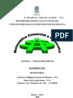 Apostila Matemática Comercial e Financeira - Versão Preliminar