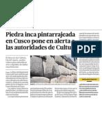 Muros Incas Cusco en Peligro