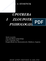 Hans Eysenck-upotreba i Zloupotreba Psihologije