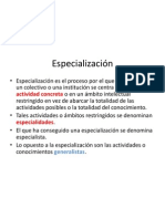 Especialización