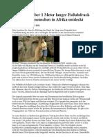 Über 1 Meter langer Fußabdruck eines Riesenmenschen in Afrika entdeckt