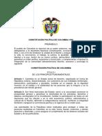 CONSTITUCIÓN POLÍTICA DE COLOMBIA DE 1991. Texto original