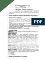 Cuestionario de Medicina Legal