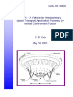 78727304 Vista Vehicle for Interplanetary Space Transport Application