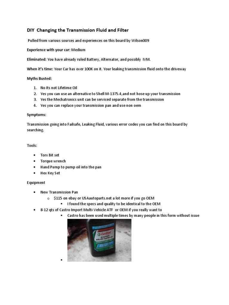 DIY Transmission Oil Change | Transmission (Mechanics