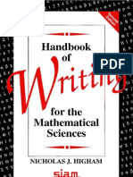 Handbook of Writing for Mathematical Sciences