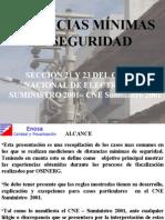 DISTANCIAS MÍNIMAS DE SEGURIDAD